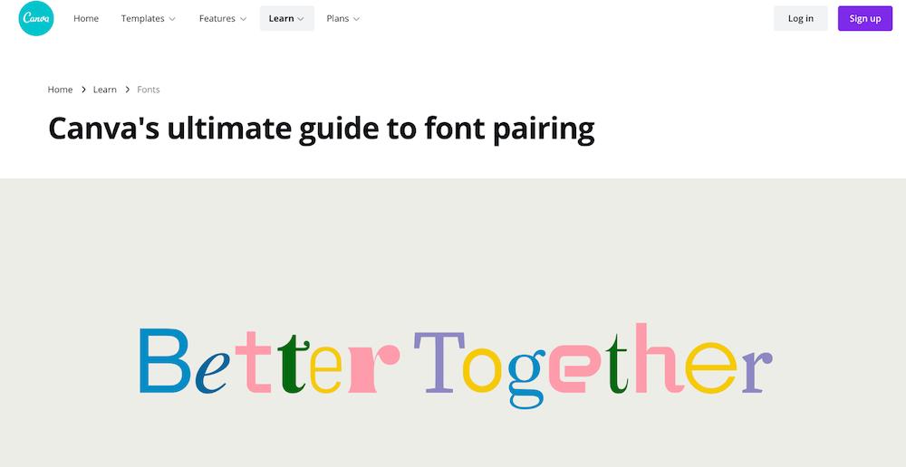 Díky nástroji Font Combinations můžete sladit vaše fonty.